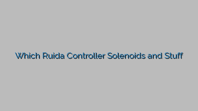 Which Ruida Controller Solenoids and Stuff - Everything Lasers